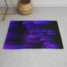 Ultraviolet Light Speed - Abstract Glitch Pixel Art Rug