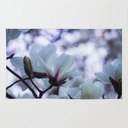 Bokeh Magnolias Rug