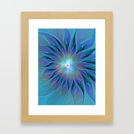 Decorative Flower Fractal Framed Art Print