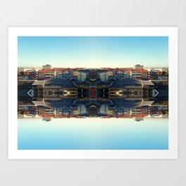 The Mirror City Art Print