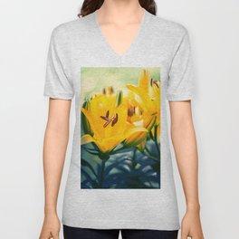 Summer Lilies II Unisex V-Neck