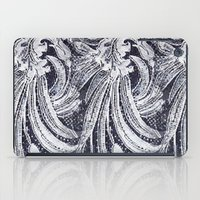 lace iPad Cases featuring WHITE LACE by BellagioVista