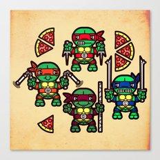 Teenage Mutant Ninja Turtles Pizza Party Canvas Print