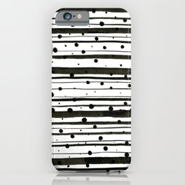 Dots and Lines iPhone Case