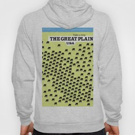The Great Plains USA vacation poster, Hoody