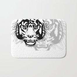 tiger head Bath Mat