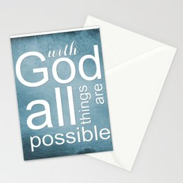 Christian Verse - With God All Things Are Possible Stationery Cards
