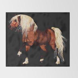 HORSE - Black Forest Throw Blanket