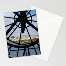 Giant clock at the Musee d'Orsay Stationery Cards