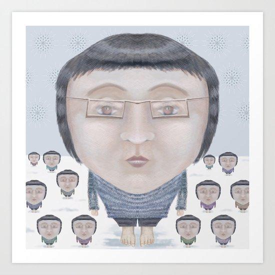 Portrait : Cold Feet Art Print