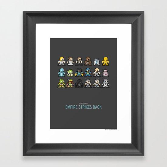 Mega Star Wars: Episode V - Empire Strikes Back Framed Art Print
