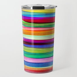 Colorful Stripes 1 Travel Mug