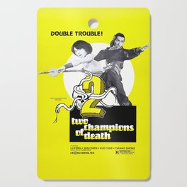 Vintage Film Poster- Two Champions of Death (1980) Cutting Board