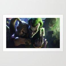 Joker Faces Art Print