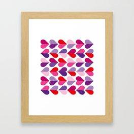 Love and Kisses in Ultra Violet Framed Art Print