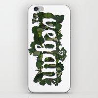 vegan iPhone & iPod Skins featuring Vegan by Kopie Creative