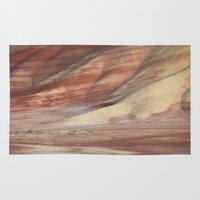 minerals Area & Throw Rugs featuring Hills Painted by Earth Minerals by Leland D Howard