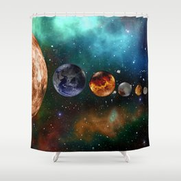 God and the Cosmos by GEN Z Shower Curtain