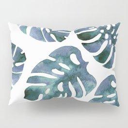 Monstera Blue Pillow Sham