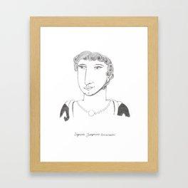 Signora Josephine Framed Art Print