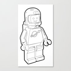Vintage Lego Spaceman Wireframe Minifig Canvas Print