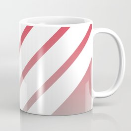 White Stripes on Red Green Color Gradient Coffee Mug