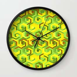 Back in the 60s neon green Wall Clock
