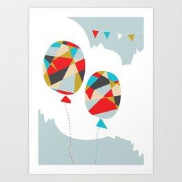 Celebrate Shapes  Art Print