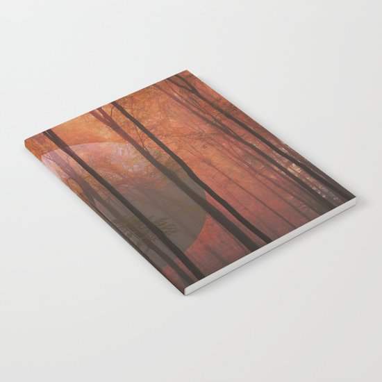 Not From Here, Surreal Forest Landscape Art Notebook