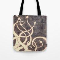 kraken Tote Bags featuring Kraken by cepheart