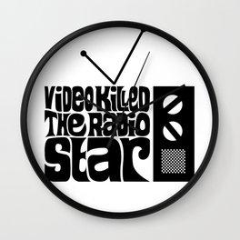 Video Killed The Radio Star Wall Clock