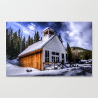elmo Canvas Prints featuring St Elmo Church by Photography By KC