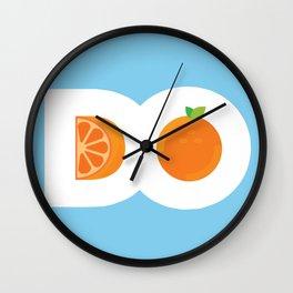 D.O. Orange Logo Wall Clock