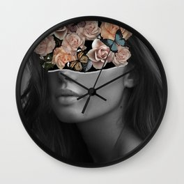 Mystical nature's portrait II Wall Clock