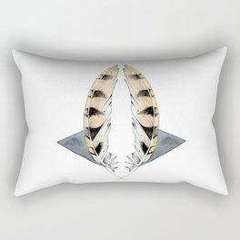 BARN OWL FEATHER INKTOBER Rectangular Pillow
