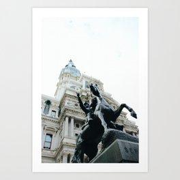 Philadelphia City Hall with Horse Statue Art Print