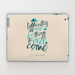 Shackleton quote on difficulties, illustration, interior design, wall decoration, positive vibes Laptop & iPad Skin