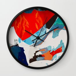 The very last sunset Wall Clock