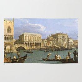 Canaletto - View of the Riva degli Schiavoni, Venice Rug