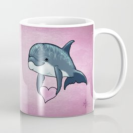 Love Ya! ~ Baby Dolphin by Amber Marine ~ Pink ~ (Copyright 2014) Coffee Mug