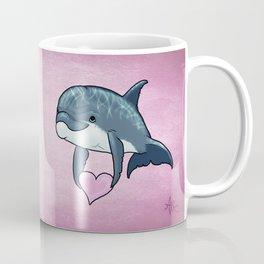 Love Ya! ~ Baby Dolphin by Amber Marine ~ Pink ~ (Copyright 2014) Coffee Mug