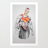 Sliced Kal Art Print