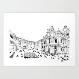 Prague, Czech Republic cityscape Art Print