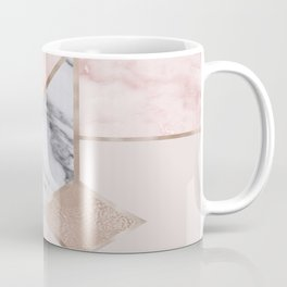 Geometric mix up - rose gold Coffee Mug
