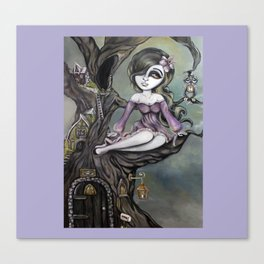 Lavender Treehouse by Lizzy Falcon Canvas Print
