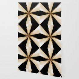 Black, White and Gold Star Wallpaper