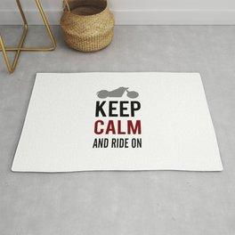 Keep Calm And Ride On Rug