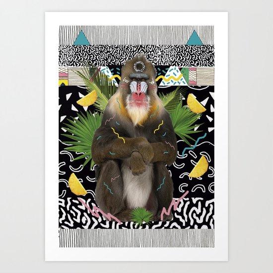 MANDRIL Art Print