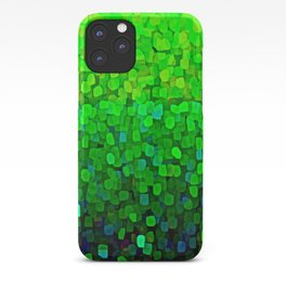 Glitter Sparkles Green iPhone Case