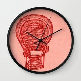 Wicker Chair Wall Clock